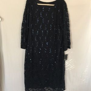 Marina Navy Blue Lace Sequin Dress - NWT - 18W